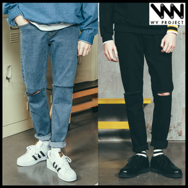 ★韓国の人気★WV PROJECT★ROAD DENIM PANTS 2色★UNISEX