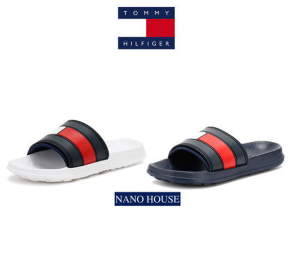 【国内完売★送料込】◆Tommy Hilfiger◆Flag Flat Sandals W/N