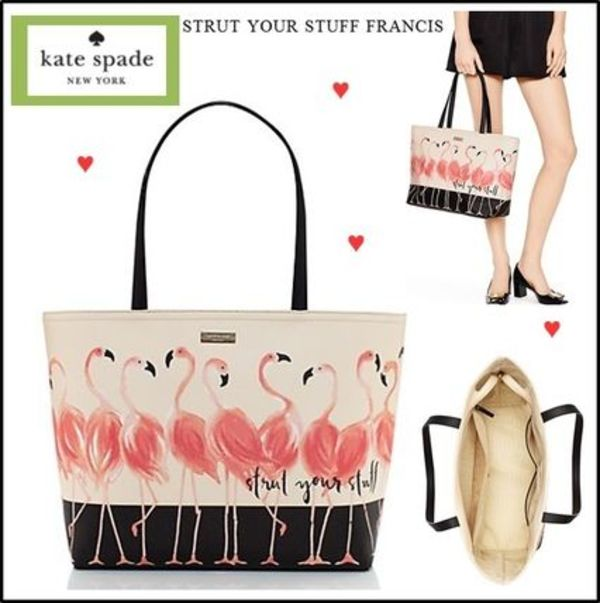 【Kate Spade】フラミンゴ柄トート strut your stuff francis