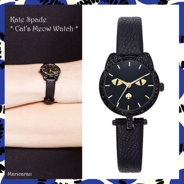 【セール!】Kate Spade*腕時計 ネコ novelty cat's meow watch