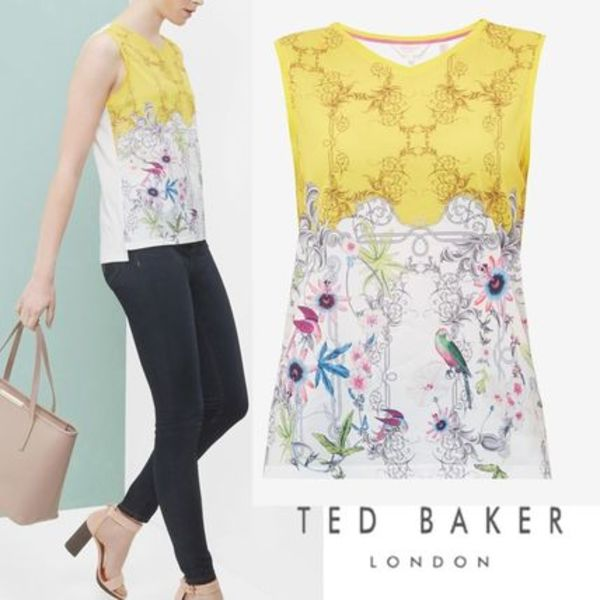 TED BAKER☆TOBOLO☆エレガント! フローラルプリント トッブ
