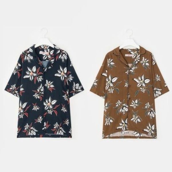 ☆8 SECONDS☆G-DRAGON着用 FLOWER PAJAMA SHIRT