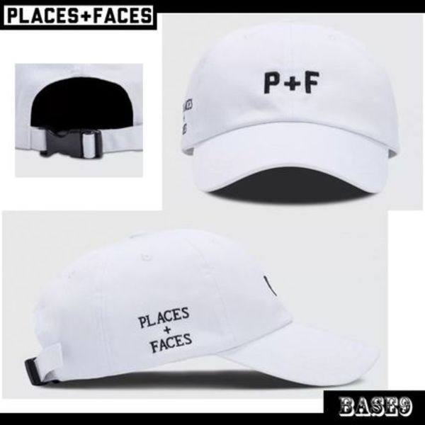 PLACES+FACES★P+F LOGO ホワイトキャップ【送料 関税込】