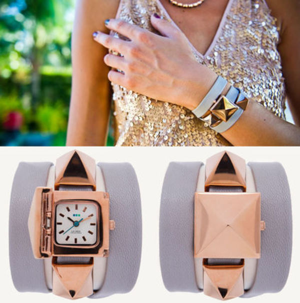 ★2年保証!!【LA MER COLLECTIONS】Rose Gold Cairo Wrap Watch