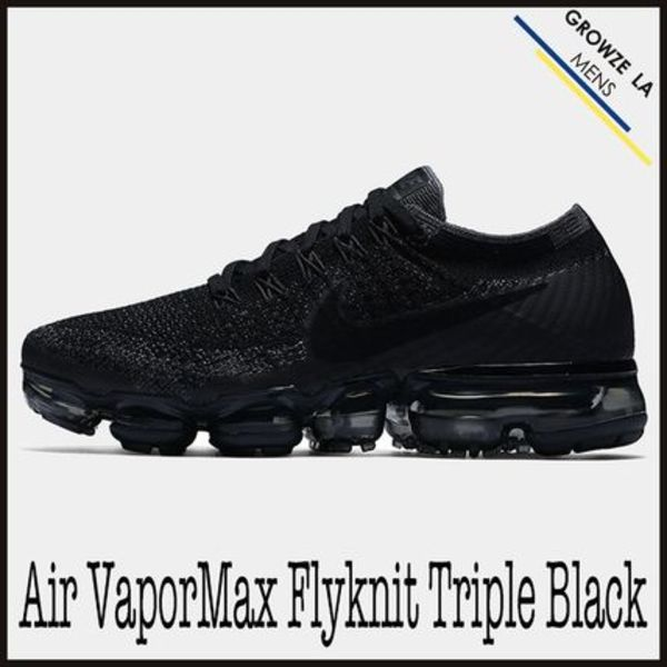 ★【NIKE】追跡発送 ナイキ Air VaporMax FlyKnit Triple Black
