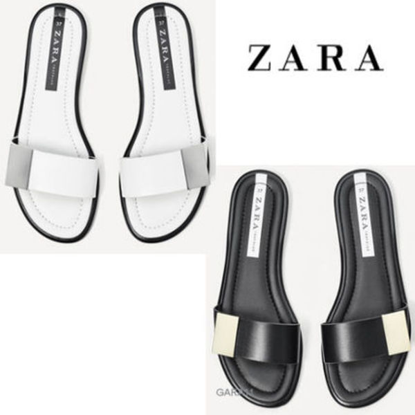 ●ZARA●METALLIC SLIDES