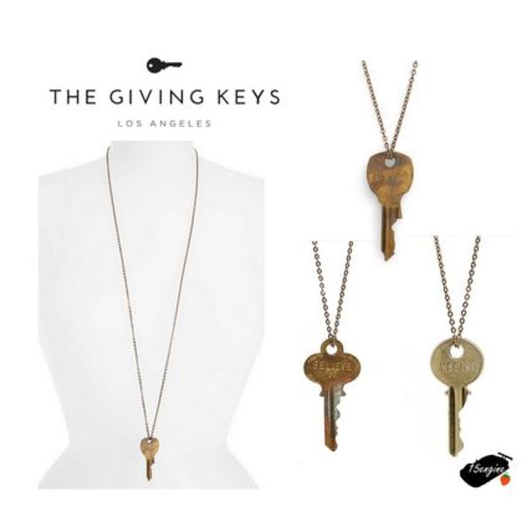 """LET GO""""INSPIRE""""BELIEVE""キーネックレス*The Giving Keys*"