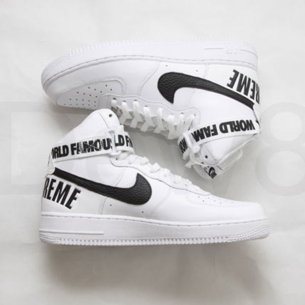 送料込 即配可 Supreme x Nike Air Force 1 High White (10.5)