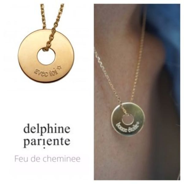 [Delphine Pariente] 文字入れok! 15mmドーナッツネックレス 3色