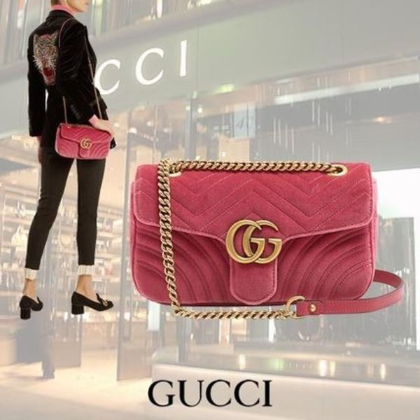 【17AW】GUCCI/GG Marmon Small Quilting クロスボディバッグ