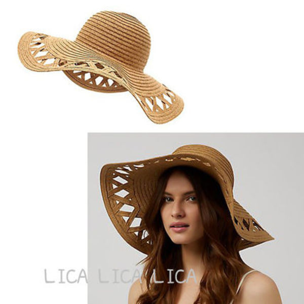 送料無料・国内発送ASOS/New Look Cut Out Trim Straw Hat