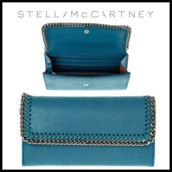 早い物勝ち★Stella McCartney★FALABELLA PEACOCK BLUE 長財布