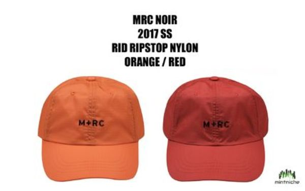 【2017SS新作】M+RC NOIR ORANGE RIPSTOP NYLON CAP(関税送料込)