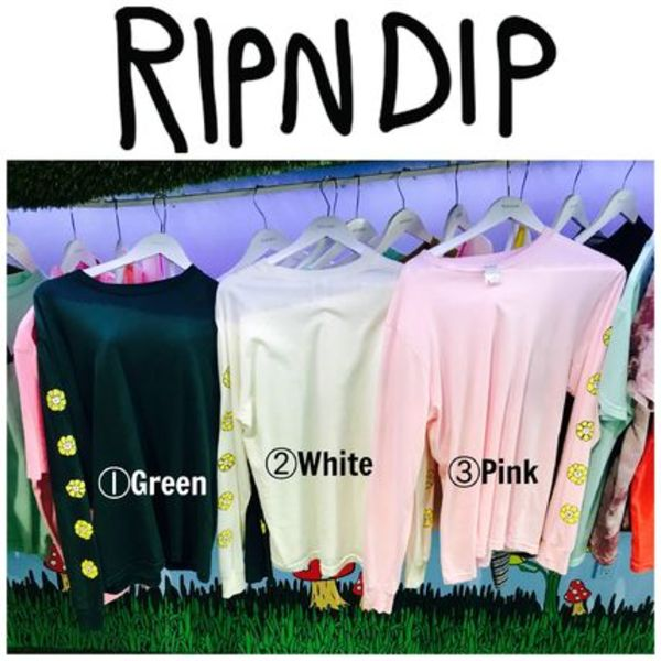 【RIPNDIP】☆LAPOPUPストア限定☆Flower Long sleeve T-shirts