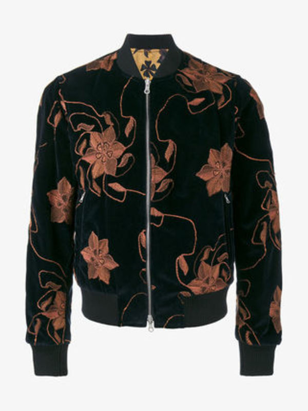 Floral Embroidered Bomber リバーシブルボマージャケット