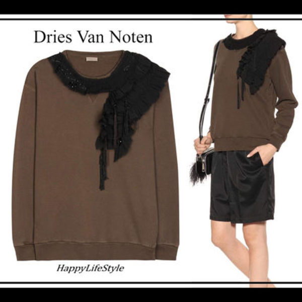 技あり◇Embroidered Detail スウェットシャツ◇Dries Van Noten
