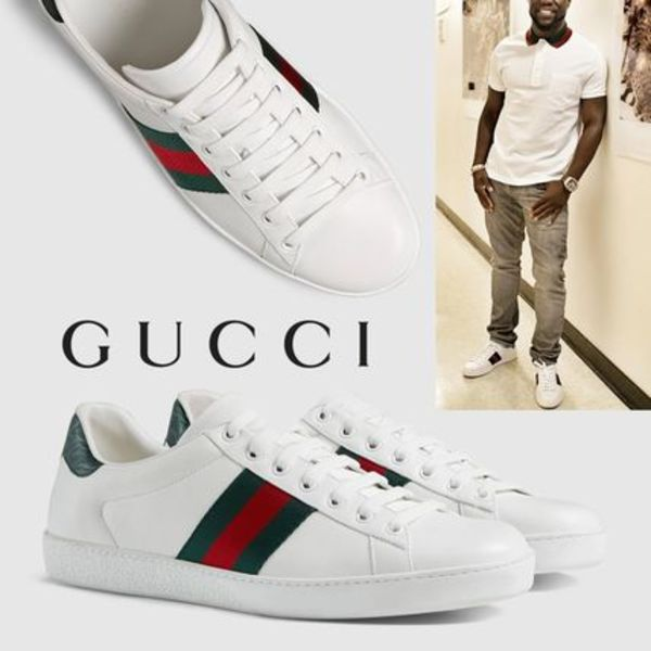 GUCCI Ace Leather Web Low-Top Sneaker