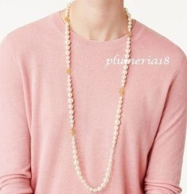 sale!Tory Burch(トリーバーチ)-CRYSTAL-PEARL LONG NECKLACE