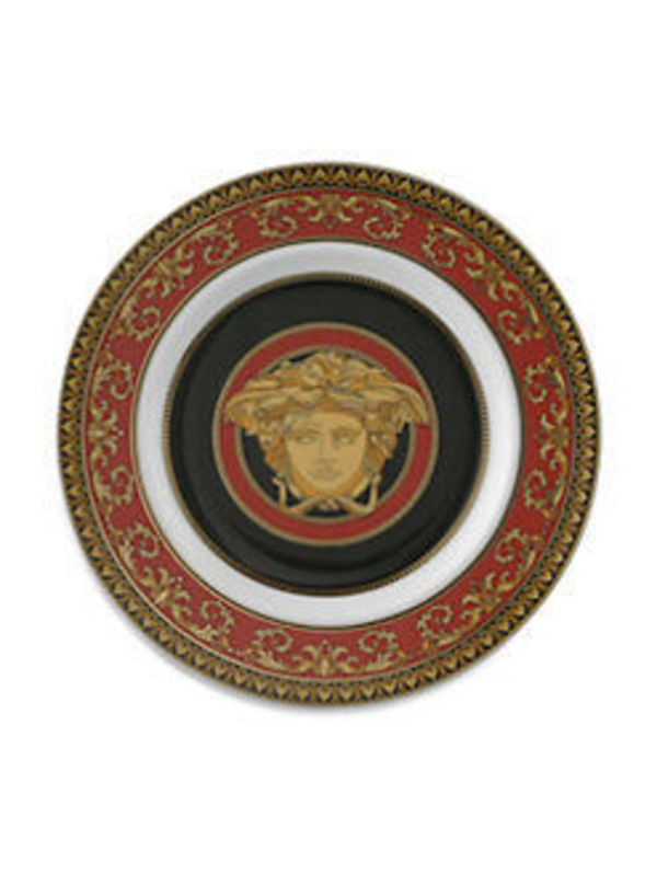 ★Medusa Red Bread & Butter Plate★Versace