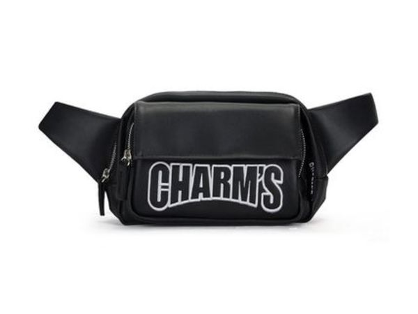 CHARMS - Basic Leather Hipsack BLACK