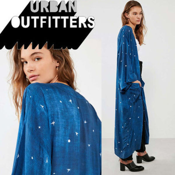 ● Urban Outfitters ● Seeing Star 星柄 キモノ ガウン カーデ