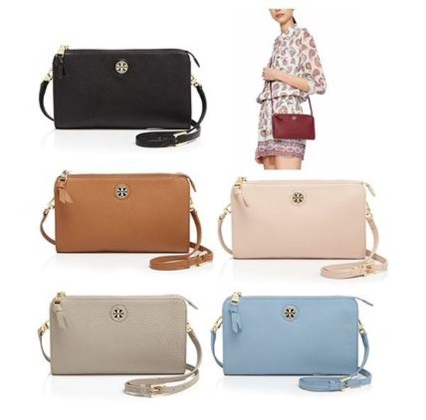 ☆Tory Burch☆Robinson PEBBLED WALLET CROSS-BODY☆多色あり