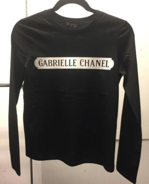 ★CHANEL2017最新作★ガブリエル LONG SLEEVE COTTON TSHIRT blk