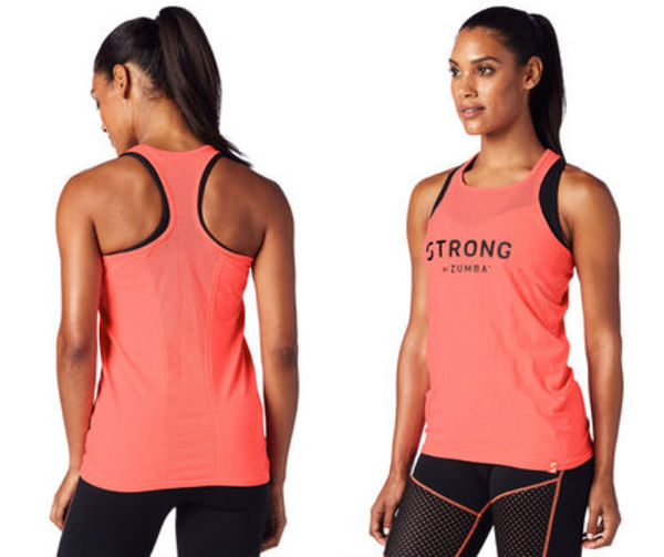 ◆2017STRONG◆STRONG by Zumba Seamless Tank-Coral Craze