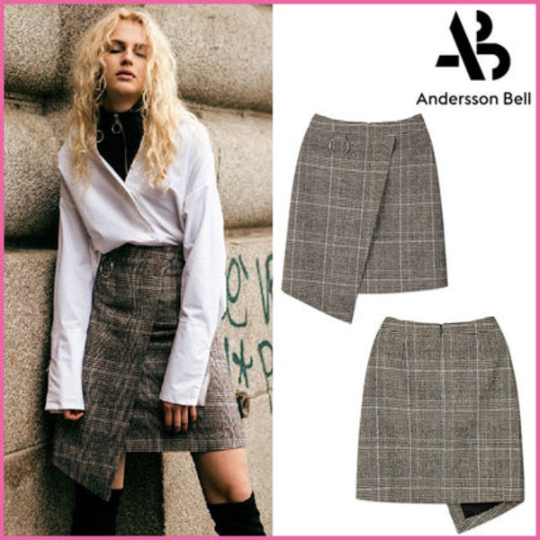 【ANDERSSON BELL】正規品★O RING ラップスカートCHECK/追跡付
