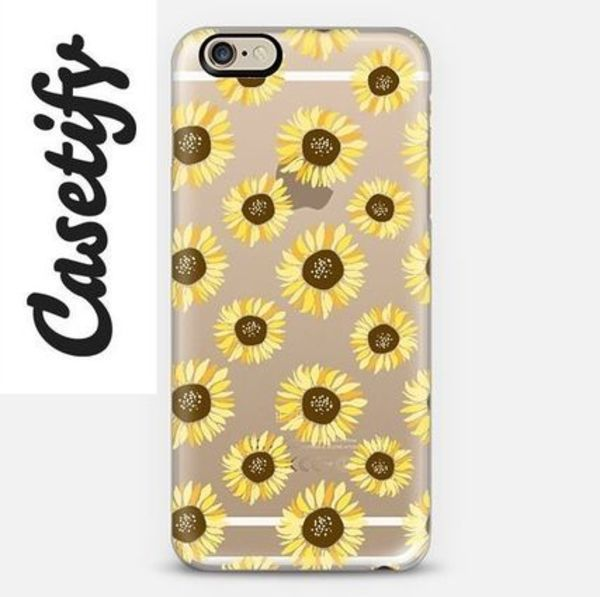 【送料込】☆Casetify Sunflowers iPhoneクリアケース☆