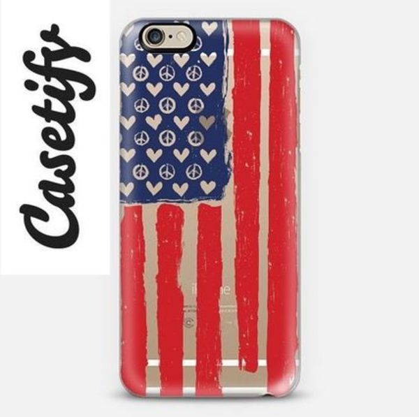 【送料込】☆Casetify United in Peace iPhoneクリアケース☆
