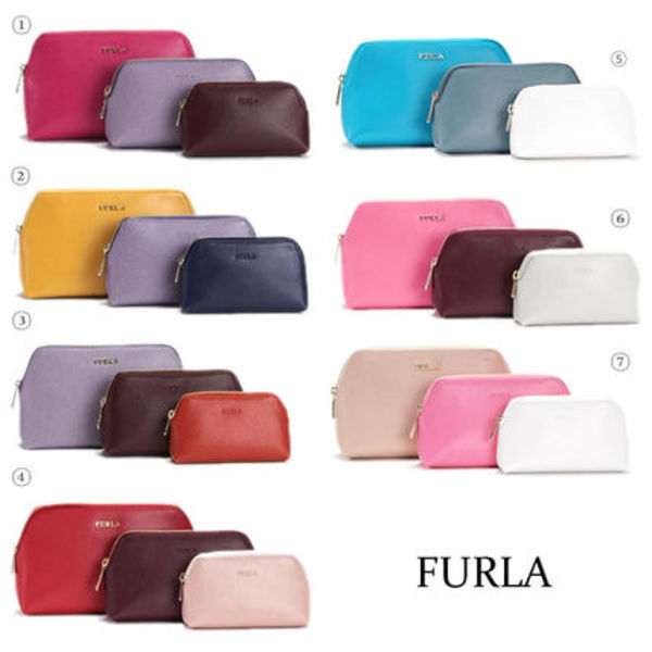 FURLA フルラ 化粧 コスメ ポーチ ISABELLE COSMETIC CASE SET