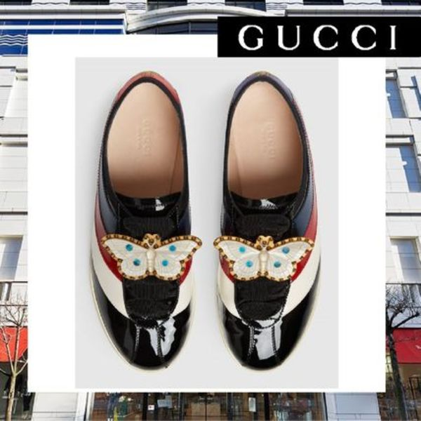 ★関税送料込★【GUCCI】Falacer patent leather スニーカー