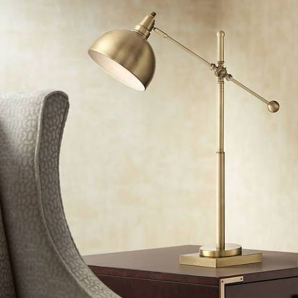 【速達・追跡アリ】Lite Source Cupola Brushed Brass Desk Lamp