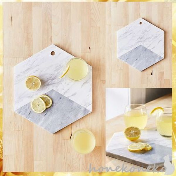 【国内発 U.O. 送料込】Marble Hexagon Cutting Board