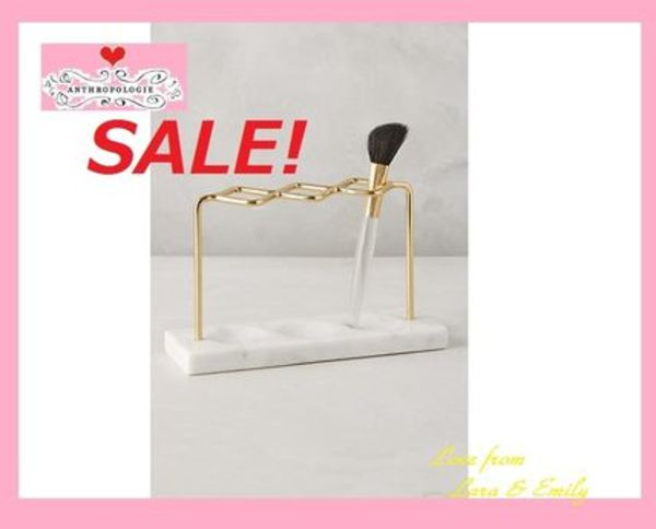 最終SALE☆ラス1即納【Anthro】Brass Makeup Brush Holder