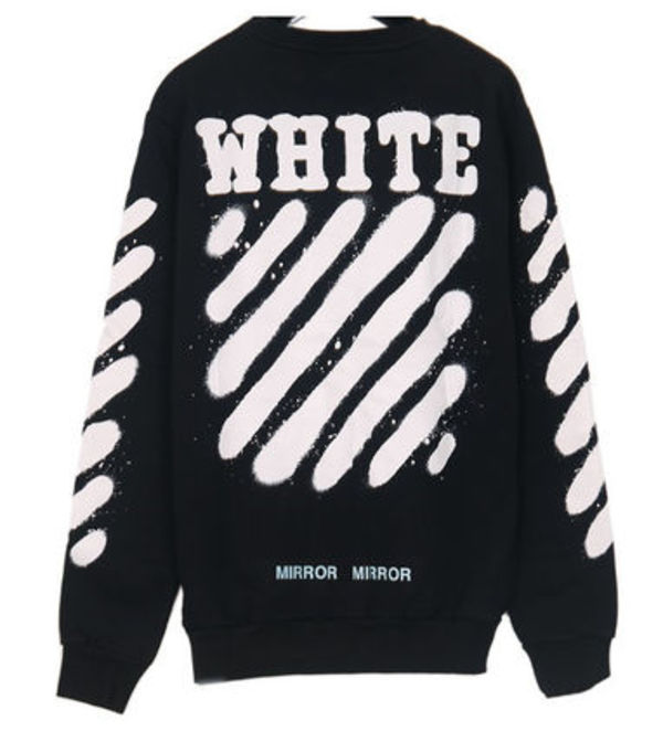 Off-White_正規品 DIAG SPRAY CREWNECK OMBA003S171920231001