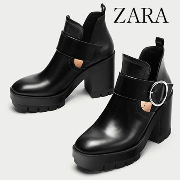 ●ZARA●秋新作♪TRACK ANKLE BOOTS WITH SLITS