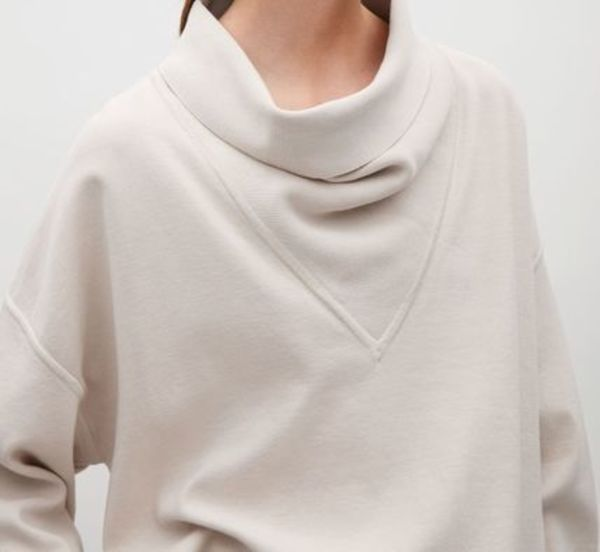 """""""COS""""OVERSIZED JUMPER WITH DRAPED NECK BISCUIT"""