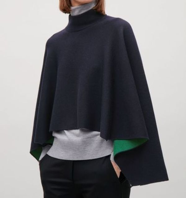 """""""COS""""WOOL POLO SCARF DARKNAVY"""