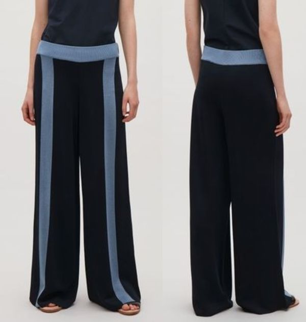 """""""COS""""TROUSERS WITH CONTRAST STRIPES DARKNAVY"""
