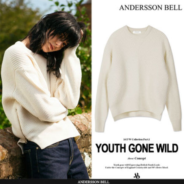 ★F/W★ANDERSSON BELL★BIRD ZIP SWEATER - IVORY