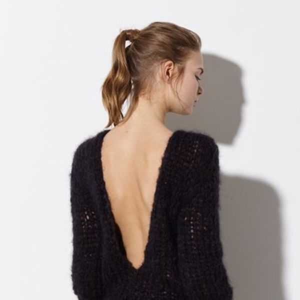【 Maiami 】 Mohair Deep Back V-Neck Sweater