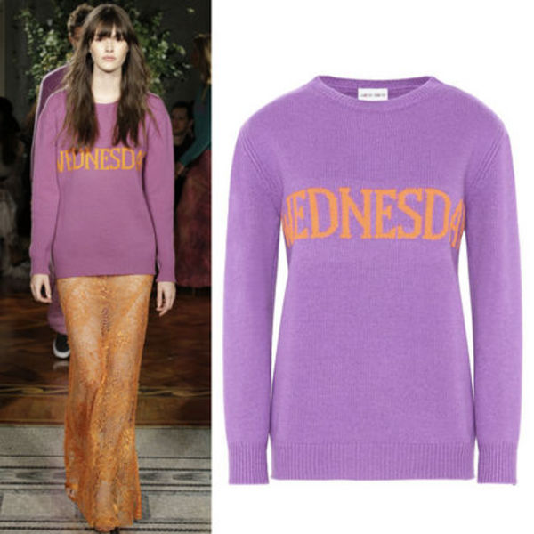 17-18AW AF044 LOOK3 THE RAINBOW WEEK CASHMERE BLEND SWEATER