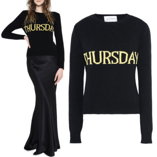 17-18AW AF038 THE RAINBOW WEEK CASHMERE BLEND SWEATER