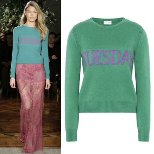 17-18AW AF047 LOOK2 THE RAINBOW WEEK CASHMERE BLEND SWEATER