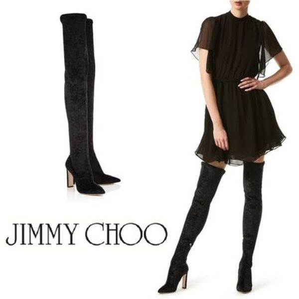 【SPUR掲載】17AW☆Jimmy Choo☆サイハイブーツ