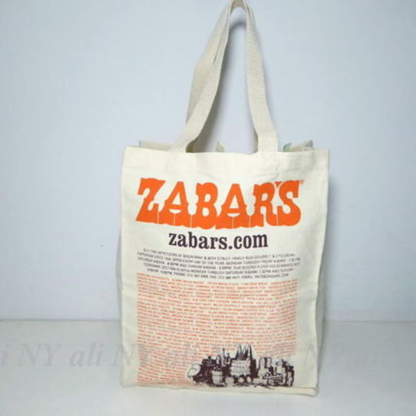 セレブ愛用★送料込み★ZABAR'S Canvas Imprinted Tote Bag (L)