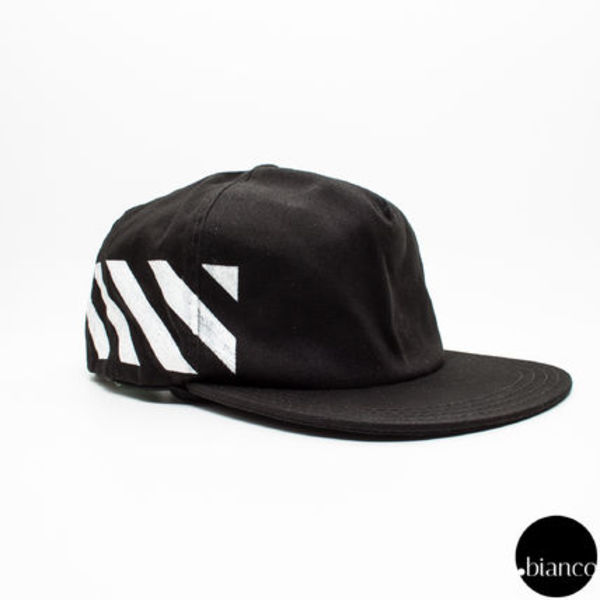 国内即発OffWhite BRUSHED DIAGONAL STRIPE CAP 国内完売