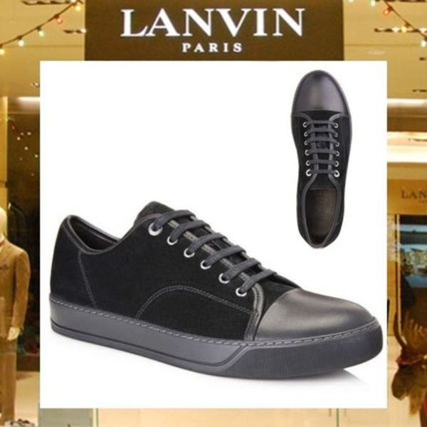 【17AW NEW】 LANVIN_men /DBB1 SUEDEカーフスキンスニーカーBK